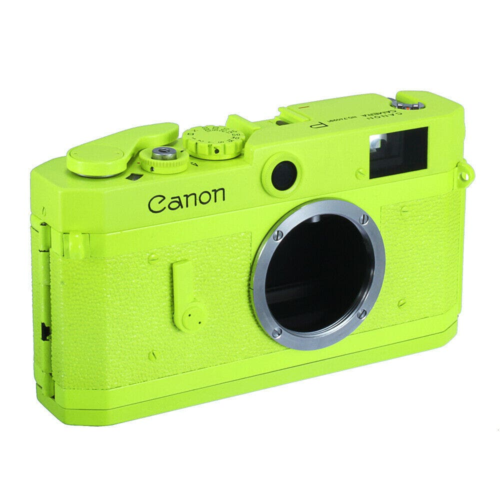 Why? Someone Painted a Canon P Rangefinder a Fugly Shade of Green?