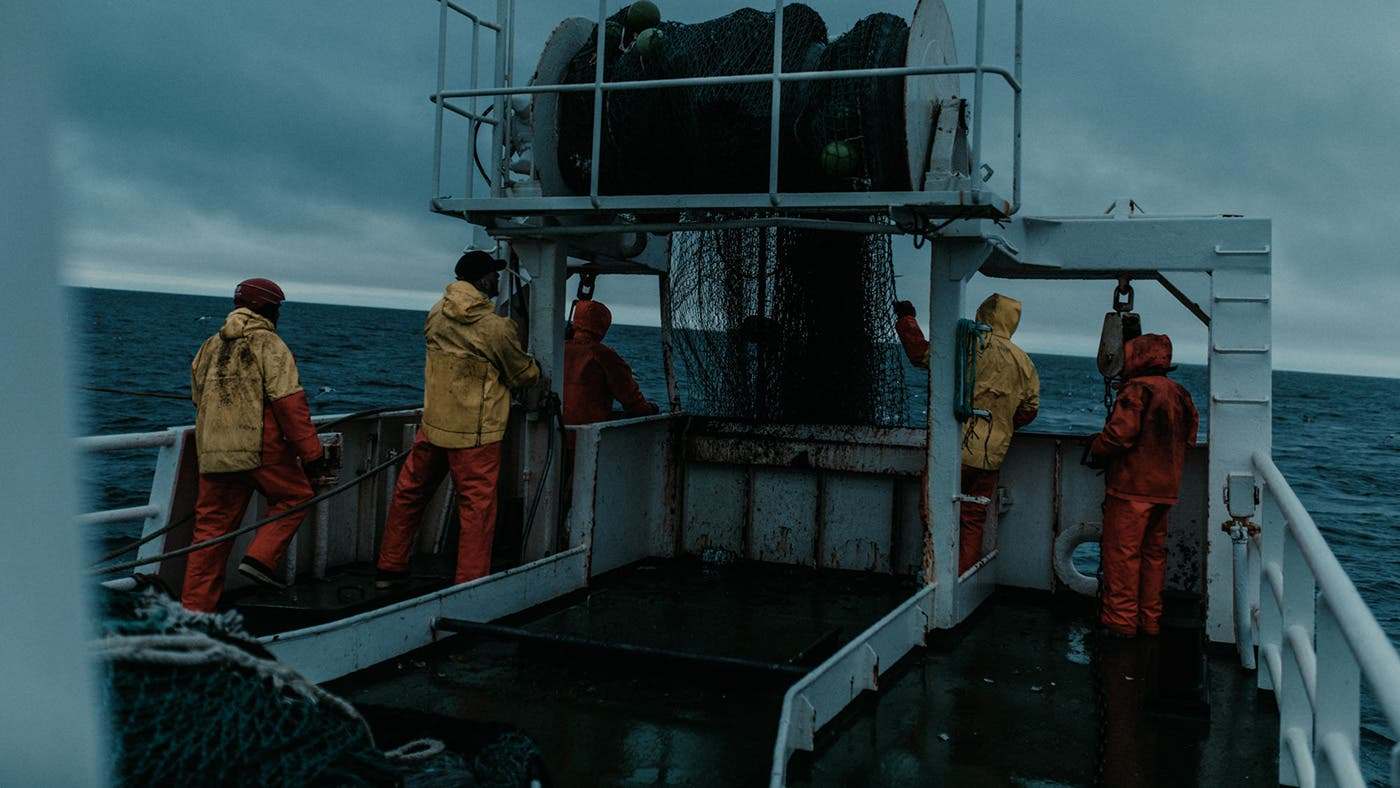 Dean Bradshaw Proves Blue Can Be Bleak Aboard a Fishing Trawler
