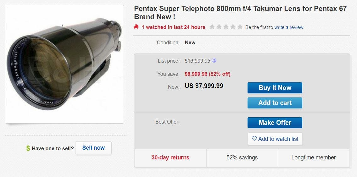 Your Pentax 67 May Be Missing this Super Telephoto 800mm Takumar Lens
