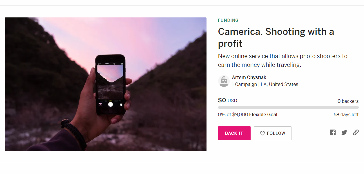 Camerica's Photography App Could Help You Earn a Little Extra Cash