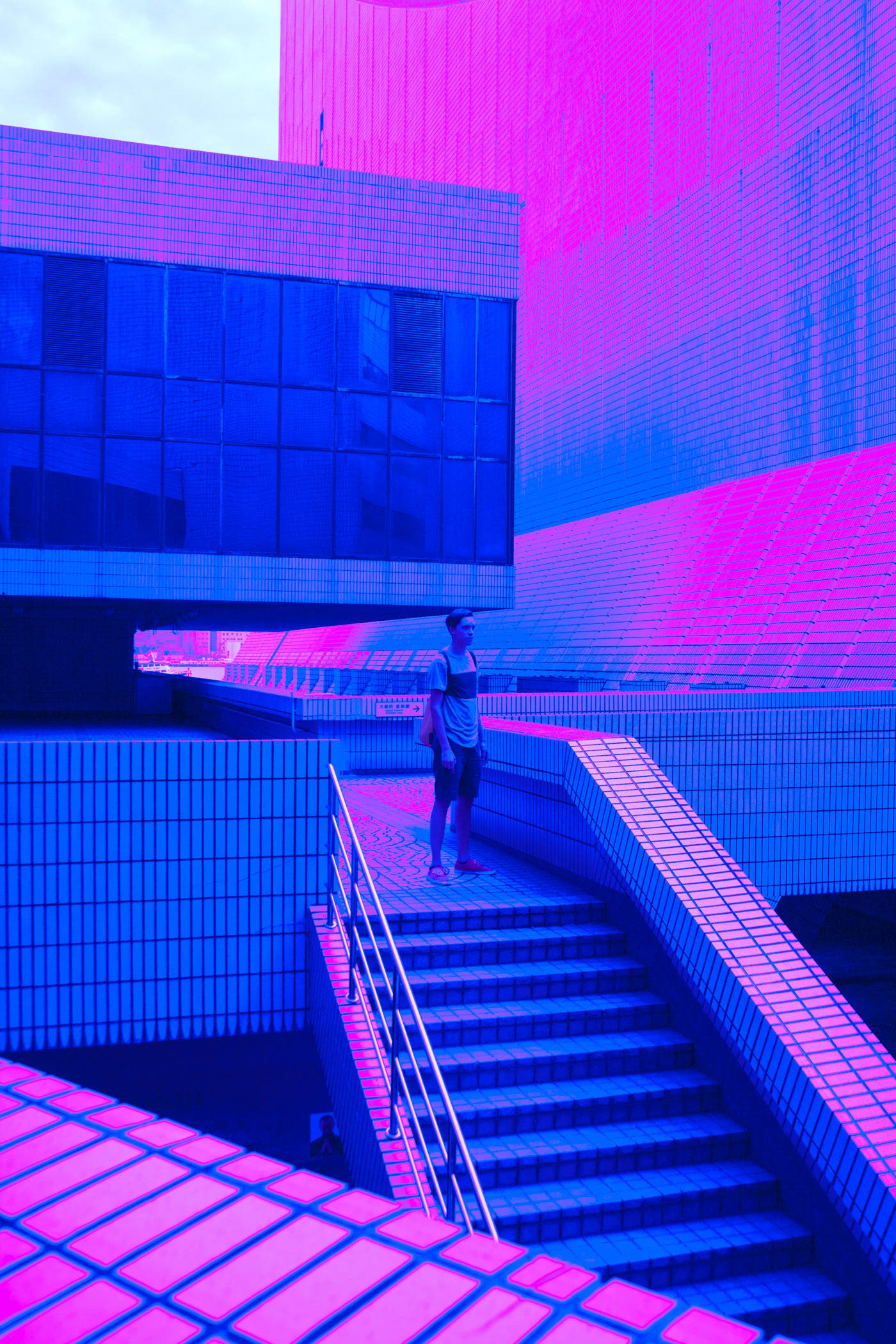 Ekaterina Busygina Imagines the Urban Geometry of Hong Kong in Neon