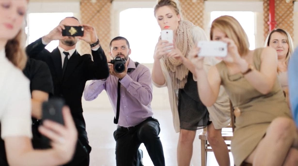 Does Everyone Really Need to Whip Their Phones Out During a Wedding?