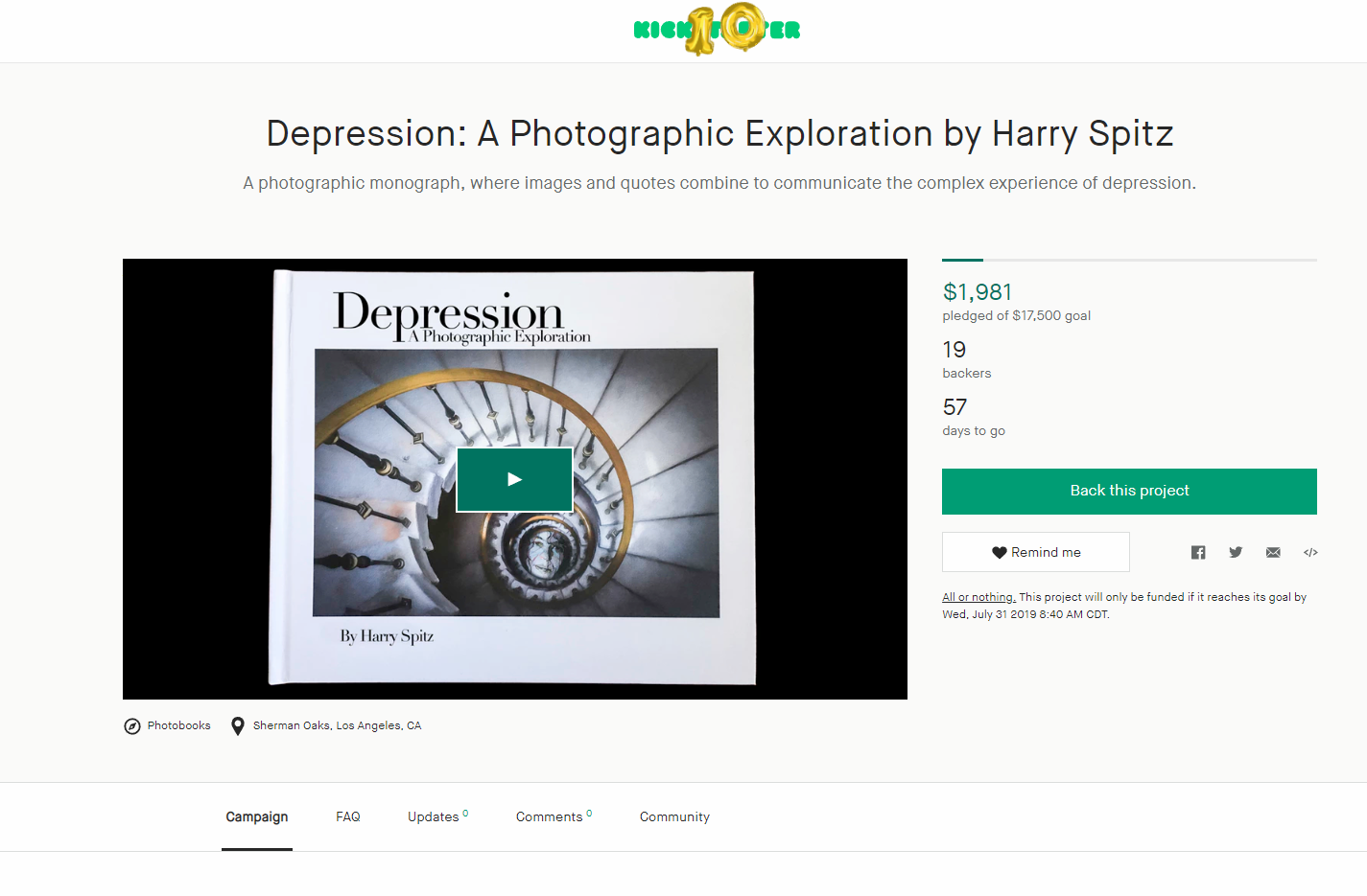 Harry Spitz's Photographic Exploration of Depression Book is Eye Opening