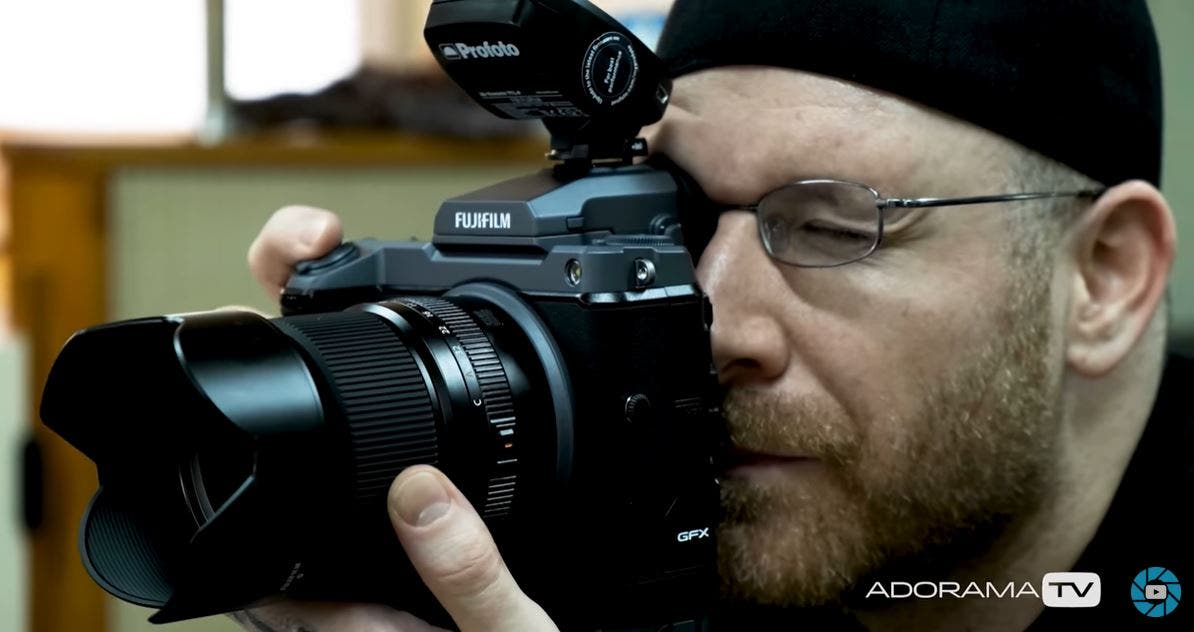 Adorama's Seth Miranda Gets Tattooed While Using the Fujifilm GFX 100
