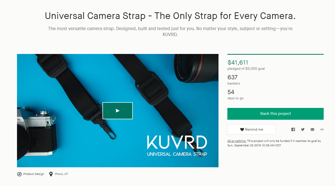 A New Universal KUVRD Camera Strap Has Smashed Its Kickstarter Goal