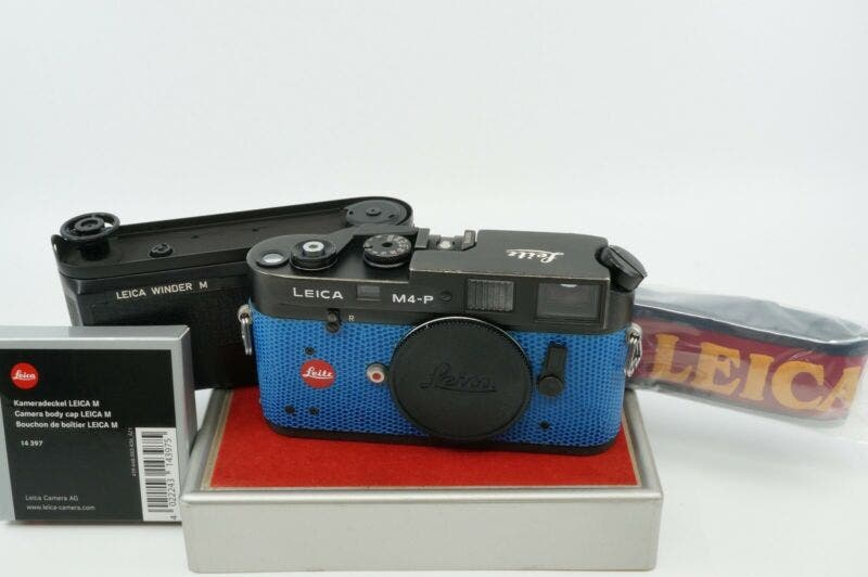 This Dope, Refurbished Blue Leica M4-P Can Be Yours for $956