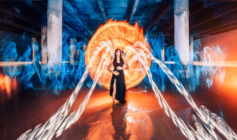Zach Alan's Light Painting Photographs are Fire - Literally!
