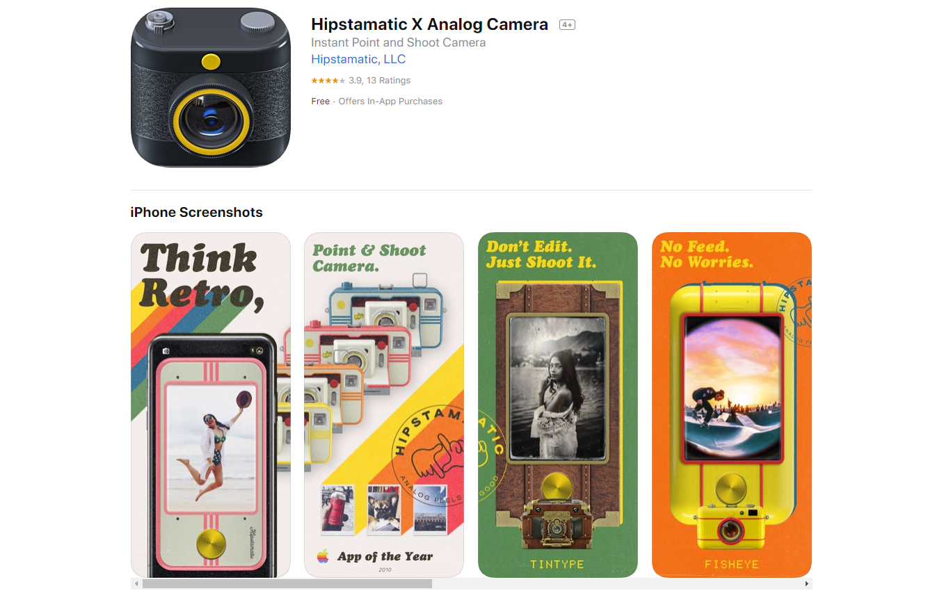 Get The 'Film Look' With The Now Free Hipstamatic X Analog Camera App
