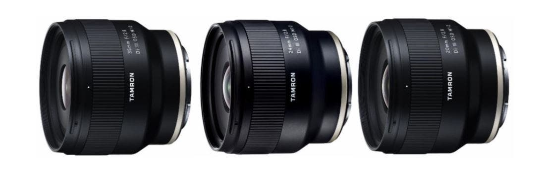 Tamron's New f2.8 Prime Lenses for Sony FE Only Cost Around $349