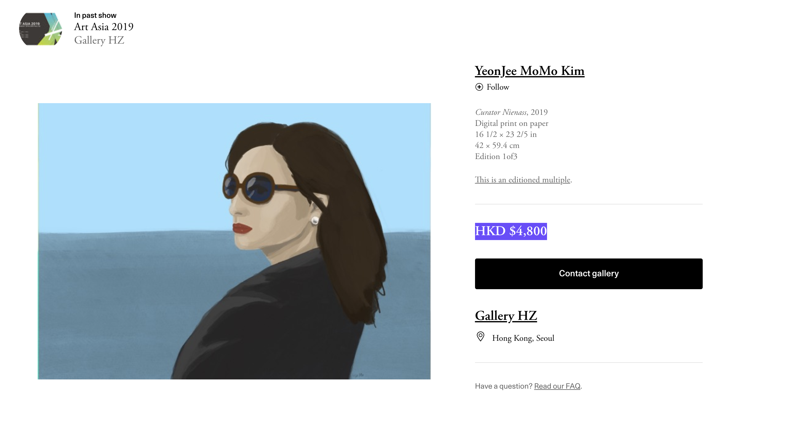 This Woman's Photo Was Painted and Now Costs HKD $4,800