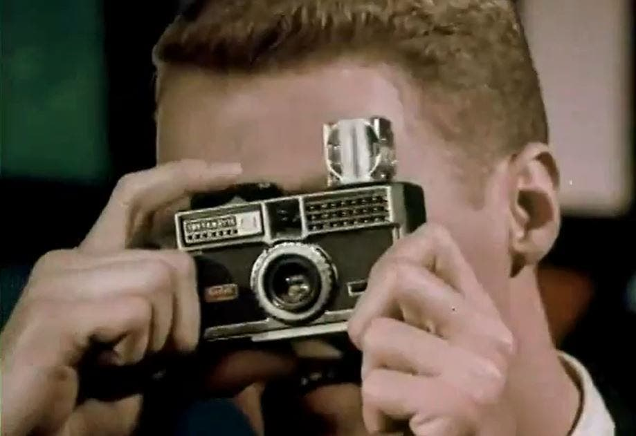 Groovy Vintage Camera Ad Reminds Us of the Kodak Instamatic Flashcubes