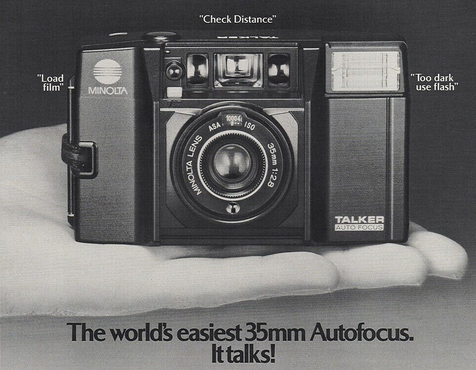 The Talking Minolta Compact Camera Had Such Fun Commercials