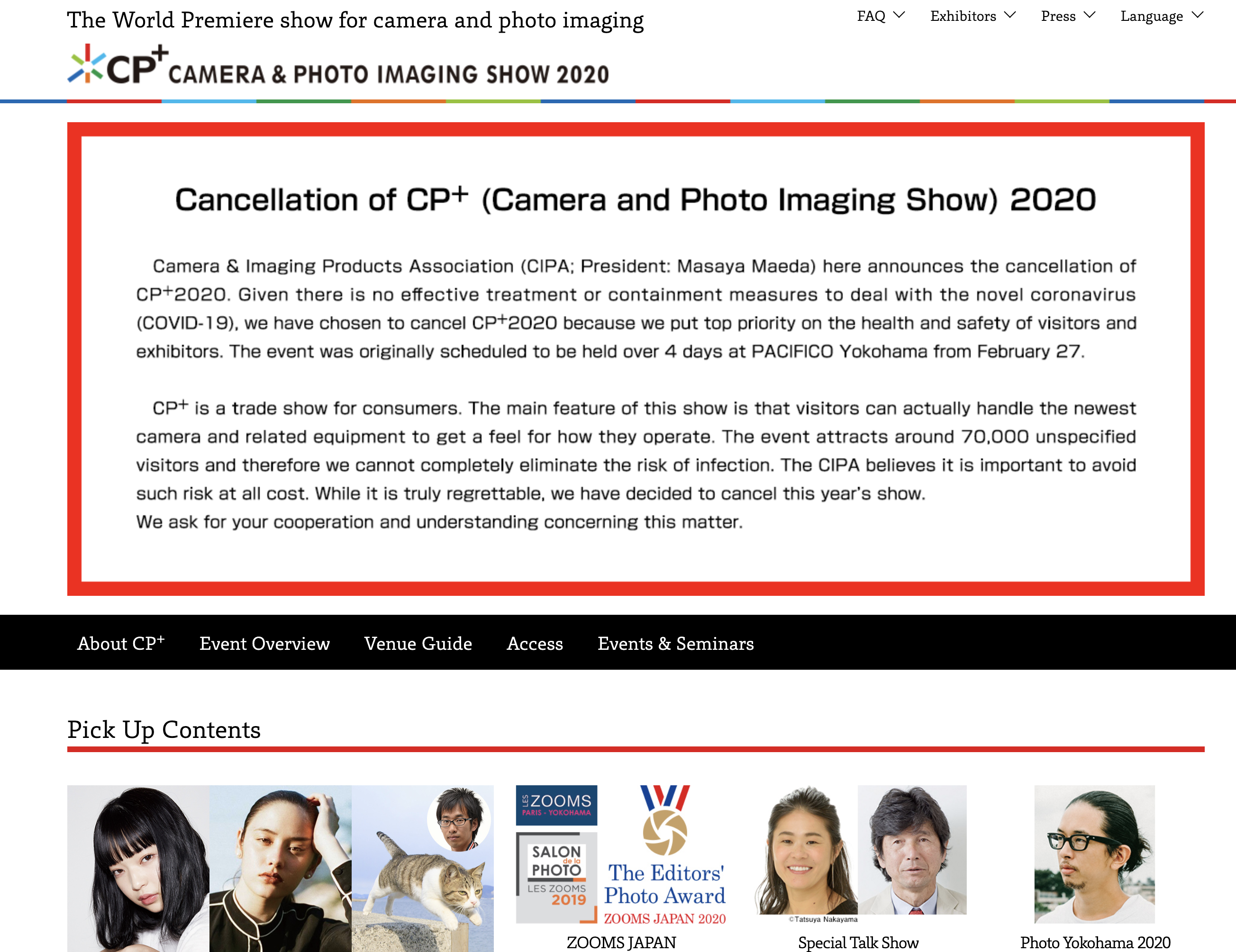 CP+ Cancelled Due to Fears of Coronavirus, But There's Still WPPI