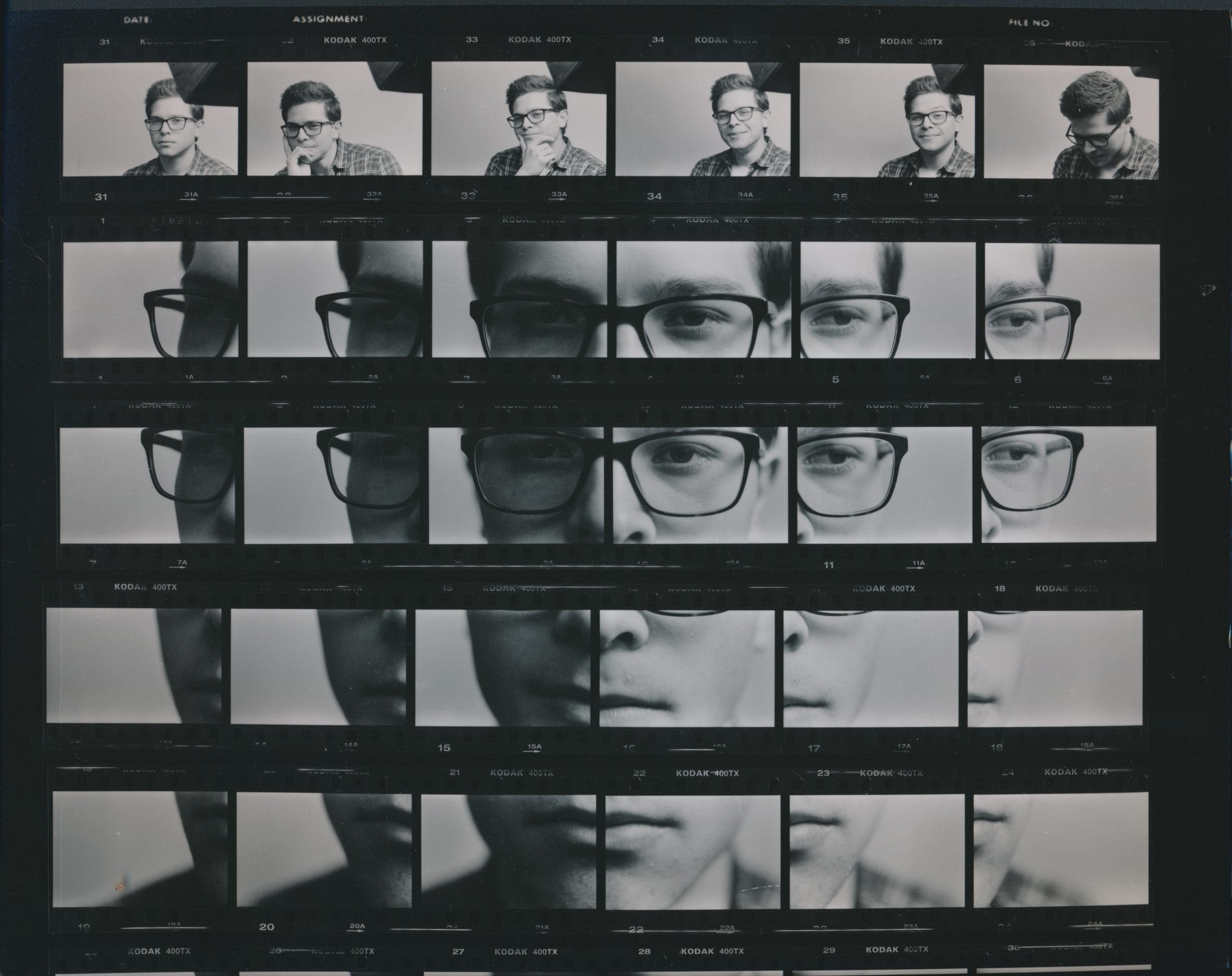 How This Photographer Made a Grid Portrait with Kodak Tri-X