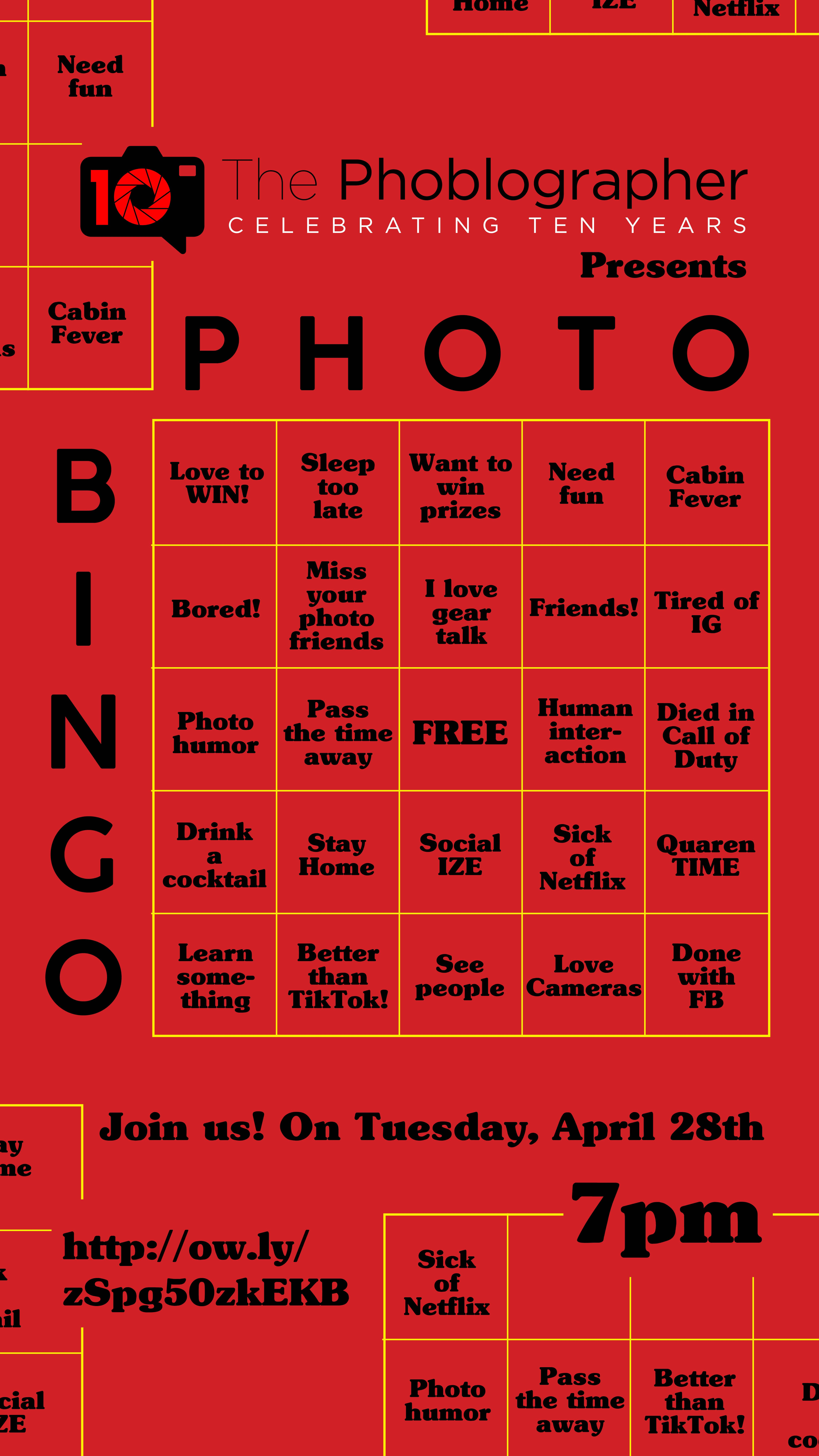 Want to Play a Game of Photo Bingo With Us? Sign Up!