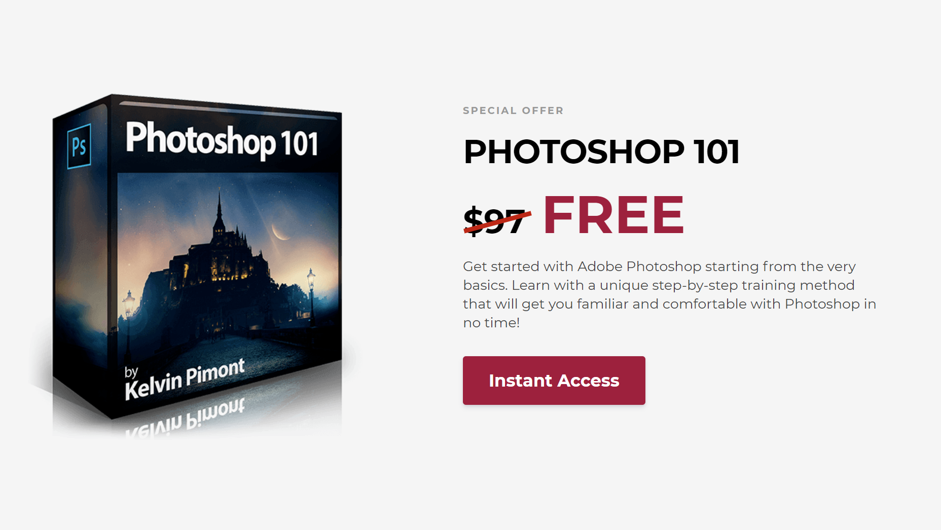 Cheap Photo: Free Photoshop 101, Big Sales on LR Presets and More