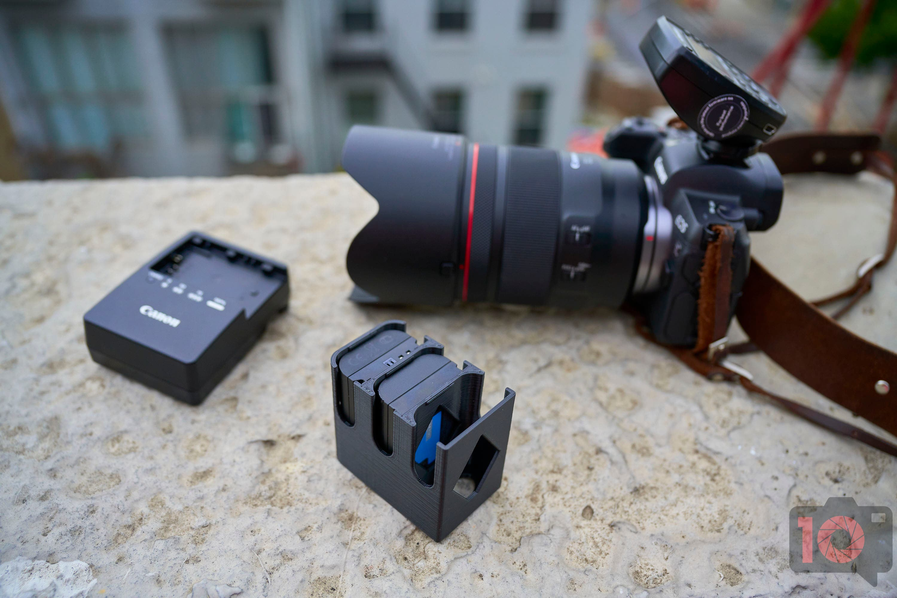 The Battery Mags Organize Camera Batteries in the Space of a Small Lens