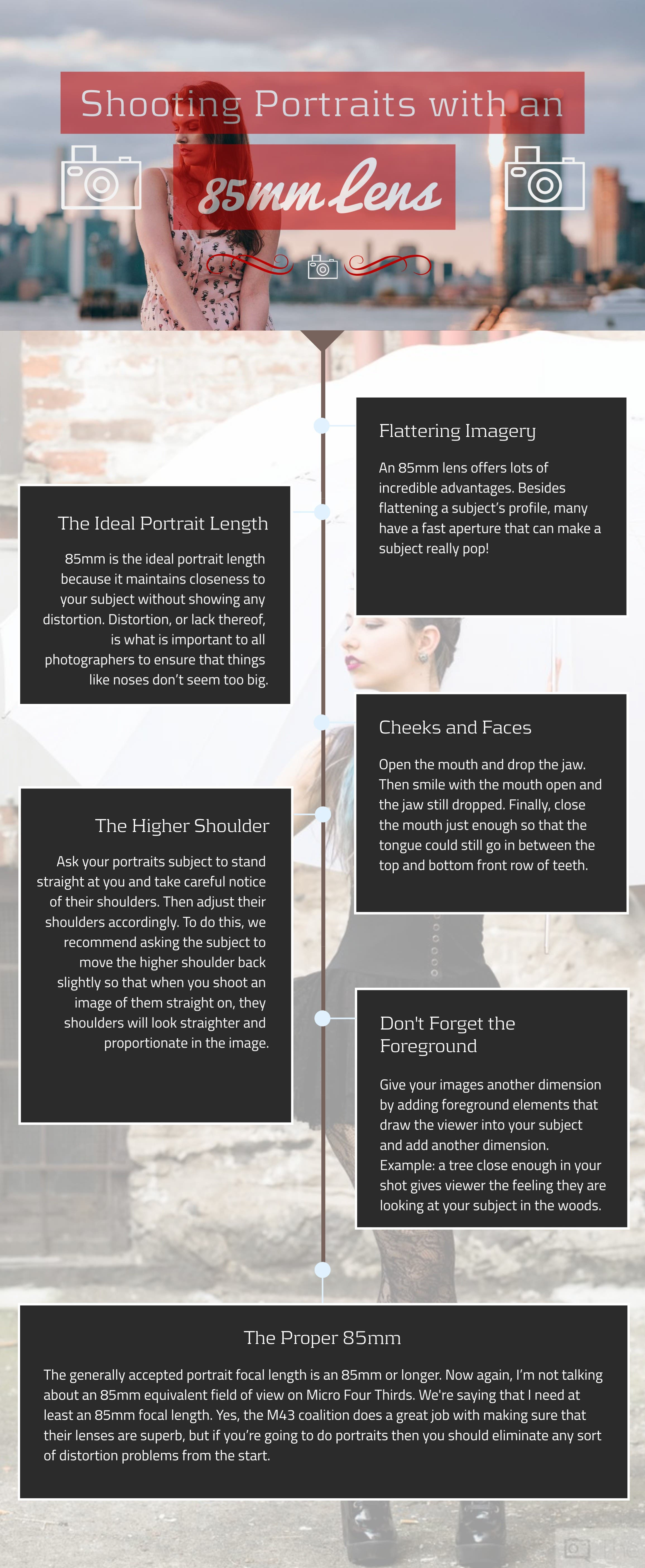 Infographic: Tips on Shooting Portraits with an 85mm Lens