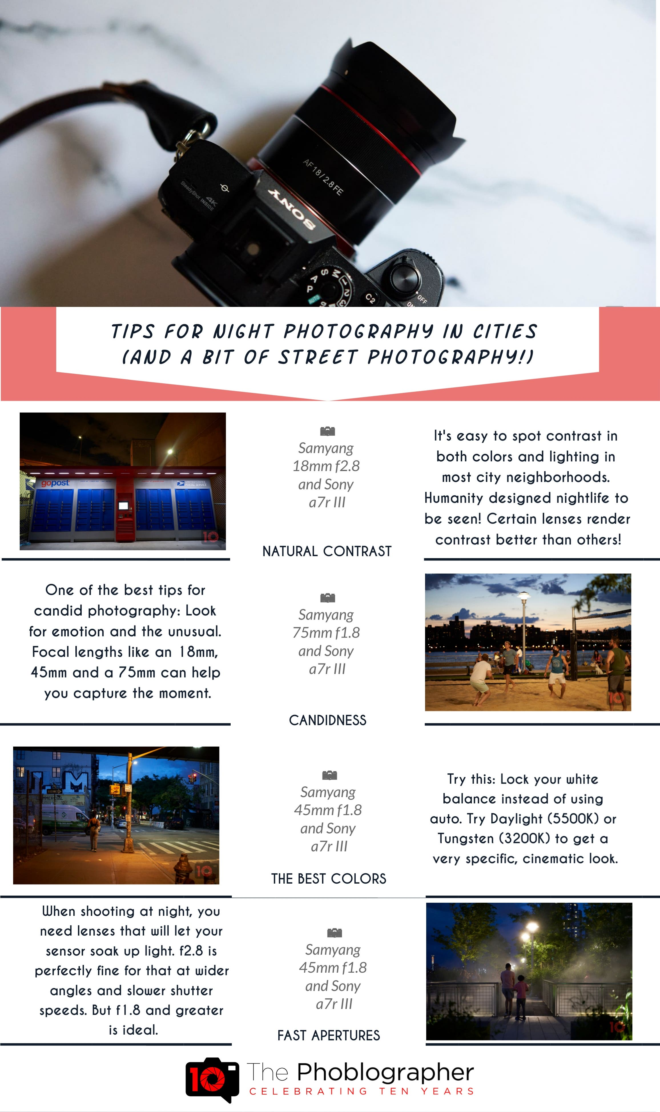 How to Shoot Better Photos in Cities at Night (And Some Street Tips)