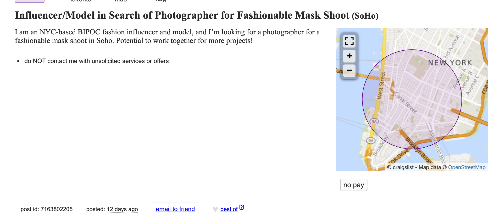 The Weird World of a Photographer Hunting for Gigs on Craigslist (NSFW)