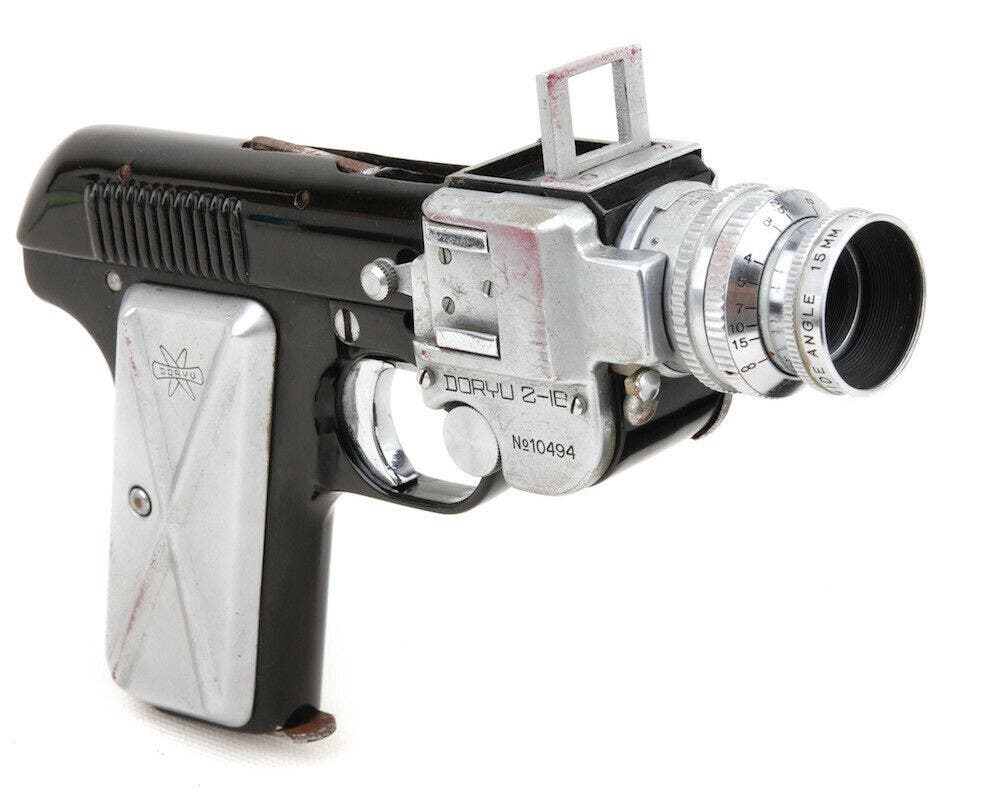 This Cool Looking Pistol Is Actually a Working Vintage Camera