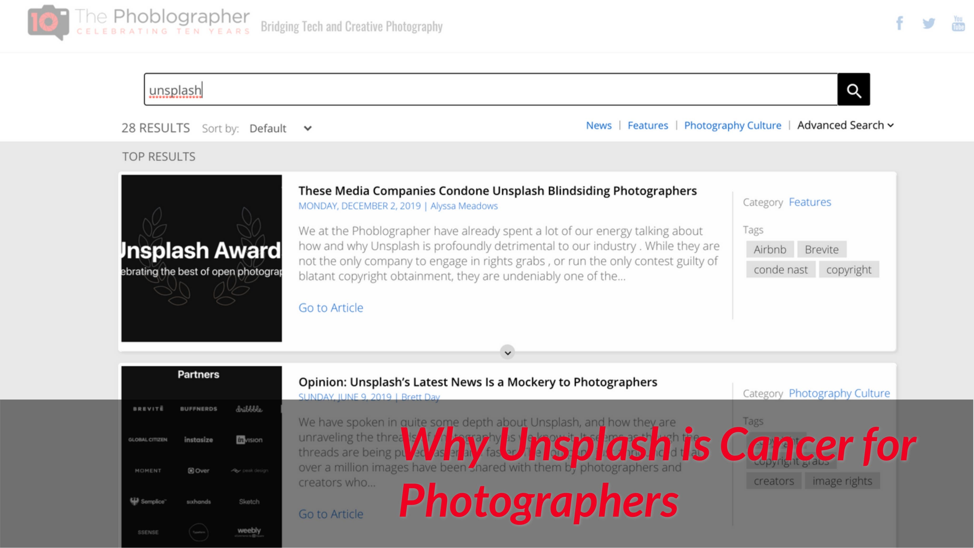 The Reasons Why Unsplash is Cancer for Photographers