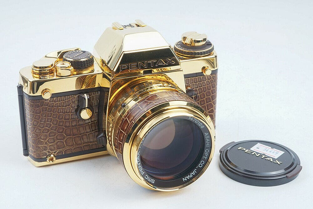 The Story of the Rare $10,000 Golden Pentax LX Camera