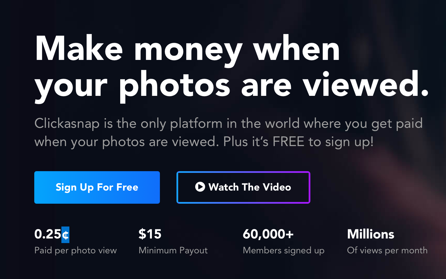 Clickasnap Offers Photographers Money Per View, But It's Not Perfect