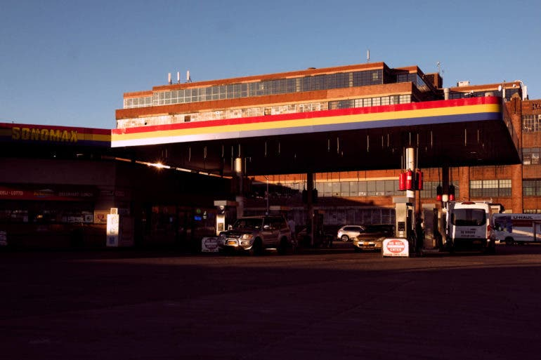 an image bad of a gas station on a photo walk