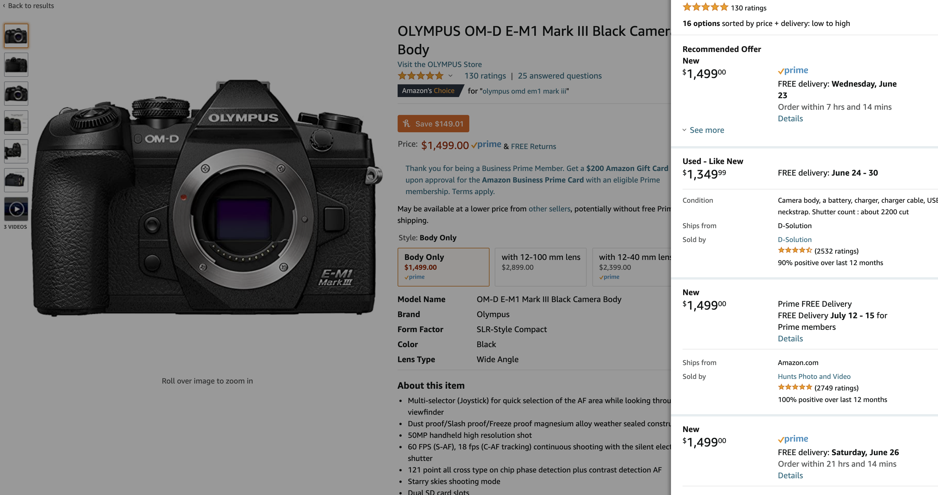 We Found Good Prices on the Olympus OMD EM1 Mk III and More!