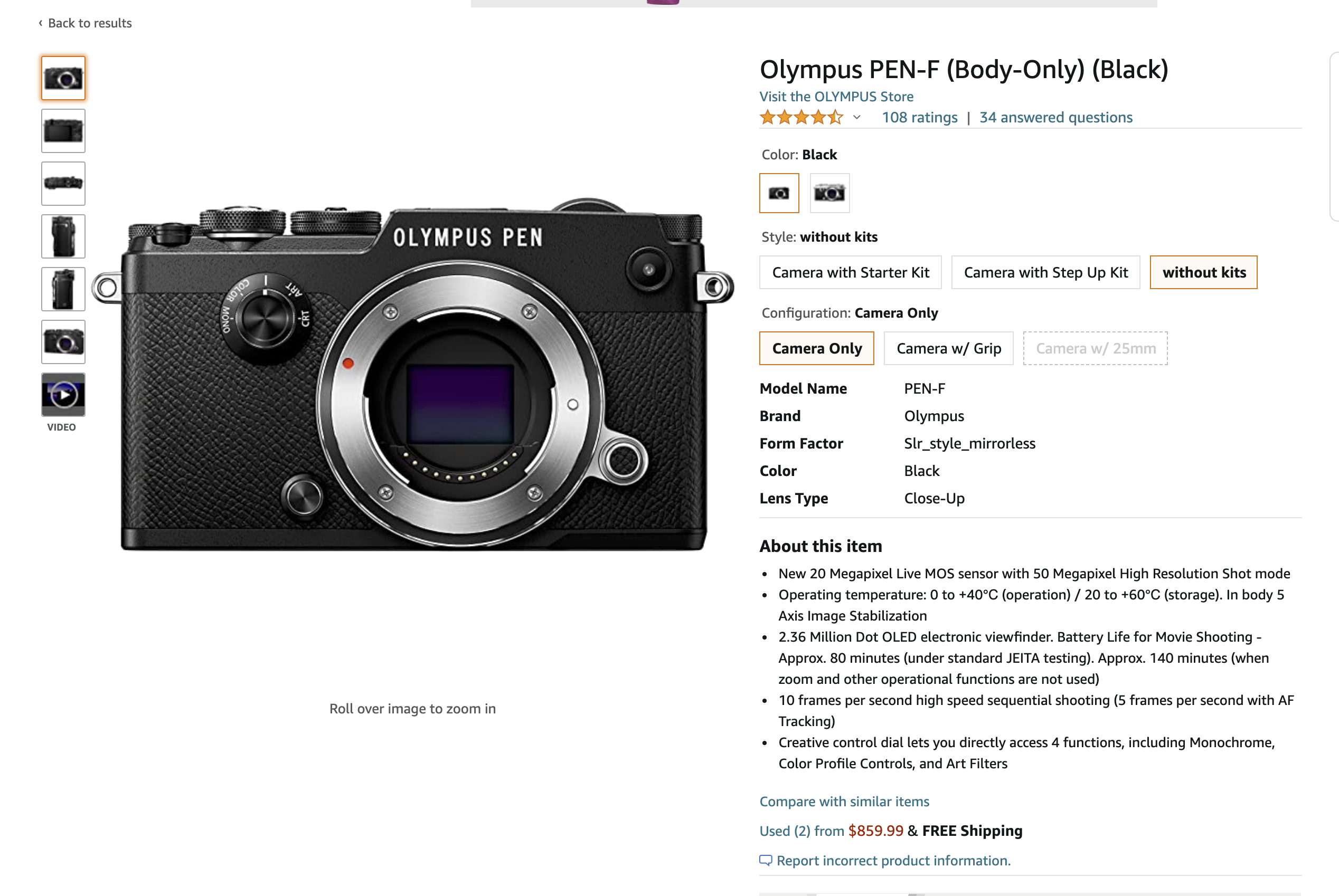 The Olympus Pen F Is Really Affordable if You Buy It Used