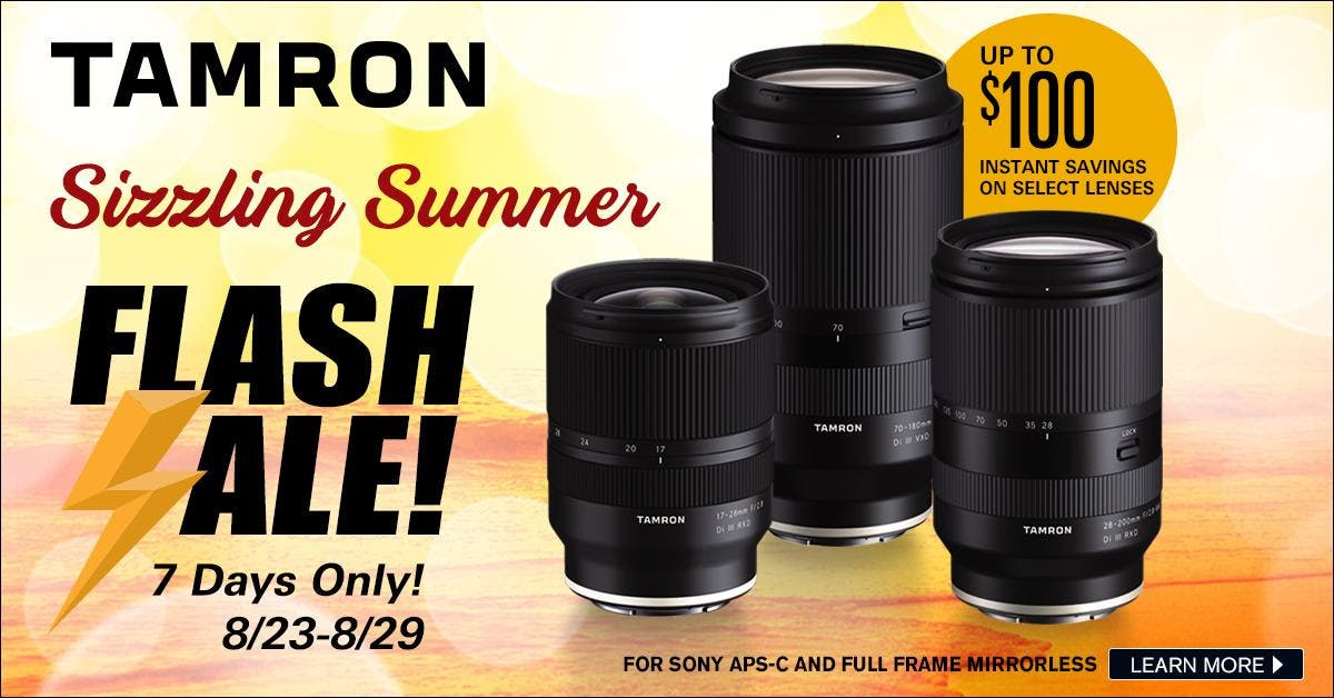 For One Week Only, Get $100 off The Best Tamron Zoom Lenses